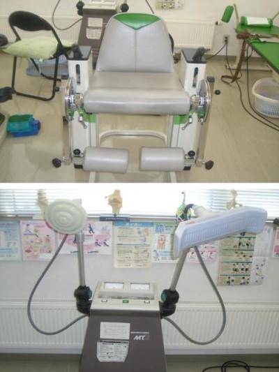下肢屈伸運動椅子・マイクロ波治療器
